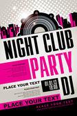 Night club — Stock Vector