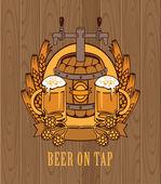 Barrel of beer — Stock Vector