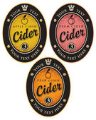 Labels for cider — Stock Vector