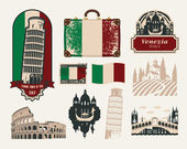 Trips to Italy — Stock Vector