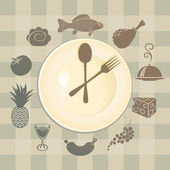 Different dishes — Vector de stock