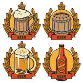 Labels for beer — Stock Vector