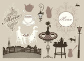 Cafes and restaurants — Stock Vector