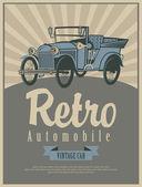 Retro Car — Vector de stock