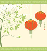 Chinese lanterns — Stock Vector