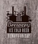 Brewery — Stockvektor