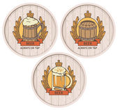 Barrel beer set — Stock Vector