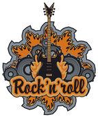 Rock n roll — Stock Vector