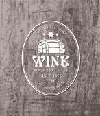 Barrel wine — Stock Vector