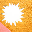 Stock Photo: Star blank crumpled in orange color