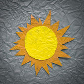 Sun on crumpled paper — Stock Photo