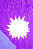 Star blank crumpled paper in purple — Stock Photo