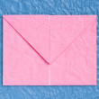 Pink letter paper — Stock Photo