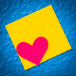 Stock Photo: Heart envelope