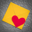 Heart envelope — Stock Photo