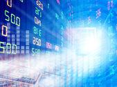Exchange graph — Stock fotografie