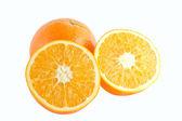 Orange frukt isolerad på vit bakgrund — Stockfoto