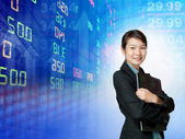Stock exchange graph background  — Stock Photo