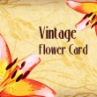 Royalty-Free Stock Vector Image: Vintage Flower Card. Vector Illustration