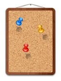 Blank cork board with thumbtacks — Stock Vector