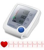Blood Pressure Monitor. Vector Illustration — Stock Vector