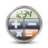 Calculator icon on a white background — Stockvektor