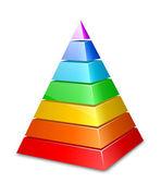Barevný vrstvená pyramida. vektorové ilustrace — Stock vektor