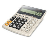 Electronic calculator isolated on white background. Vector — Cтоковый вектор