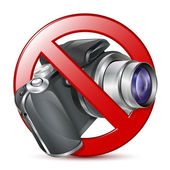 No photography sign. Vector — Stock Vector