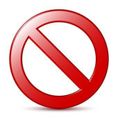 No Sign. Vector — Stock Vector