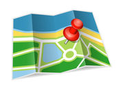 Paper map icon. Vector illustration — Stock Vector