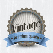Retro Vintage Badge - Premium Quality. Vector — Stock Vector