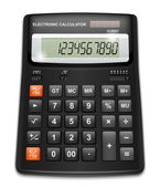 Vector calculator isolated on white background — 图库矢量图片