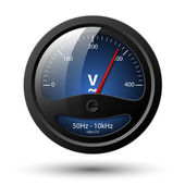 Vector voltmeter icon — Vector de stock