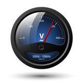 Vektorové voltmetr ikona — Stock vektor