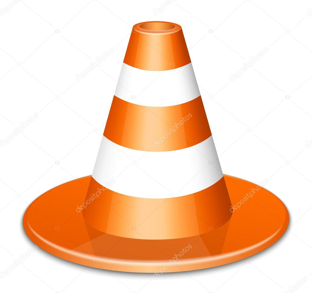 Traffic Cone Icon. Vector Illustration — Stock Vector #12679213