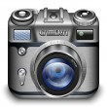 Retro Photo Camera App Icon. Detailed vector illustration — Stock Vector