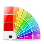 Color palette icon. Vector illustration — Stock Vector #18921409