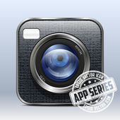 Photo Camera Icon. App Series — Stock Vector