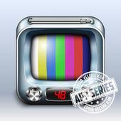 TV Icon. App Series — Stock Vector