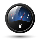 Fuel gauge icon. Vector illustration — Stockvector