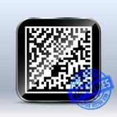 Datamatrix Icon. App Series — Stock Vector