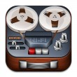 Reel to reel tape recorder app icon — Stock Vector