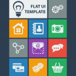 Stock Vector: Modern flat user interface template