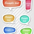 Speech bubbles set — Stock Vector