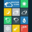 Vector weather icons set — Stock Vector