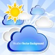 Weather background — Stock Vector