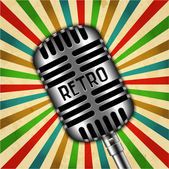 Classic retro microphone — Vector de stock