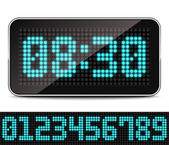 Digital LED Clock — Stock Vector