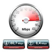 Download e upload de ícone de velocidade — Vetor de Stock